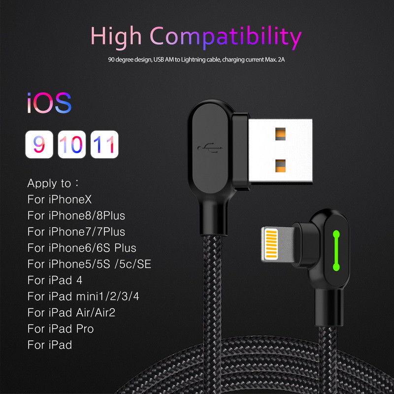 MCDODO Cable USB cargador rápido para iPhone Xs Max X 8 7 6 SE