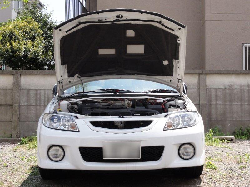 Para Mazda Familia BJ 323 Protege Allegro capó frontal modifique los resortes de Gas amortiguador de fibra de carbono amortiguador de apoyo