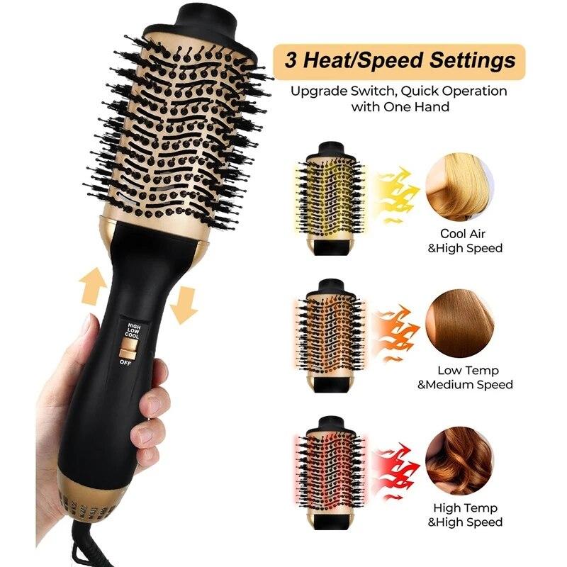 Heating Smooth Straightening 2 IN 1 One Step Hot Air Brush Hair Curling enlarge