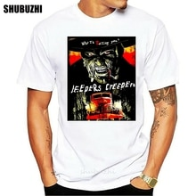 Мужская футболка Jeepers Creepers, хлопковая забавная футболка, новинка, футболка для женщин и мужчин, брендовая футболка для мужчин, летняя хлопко...