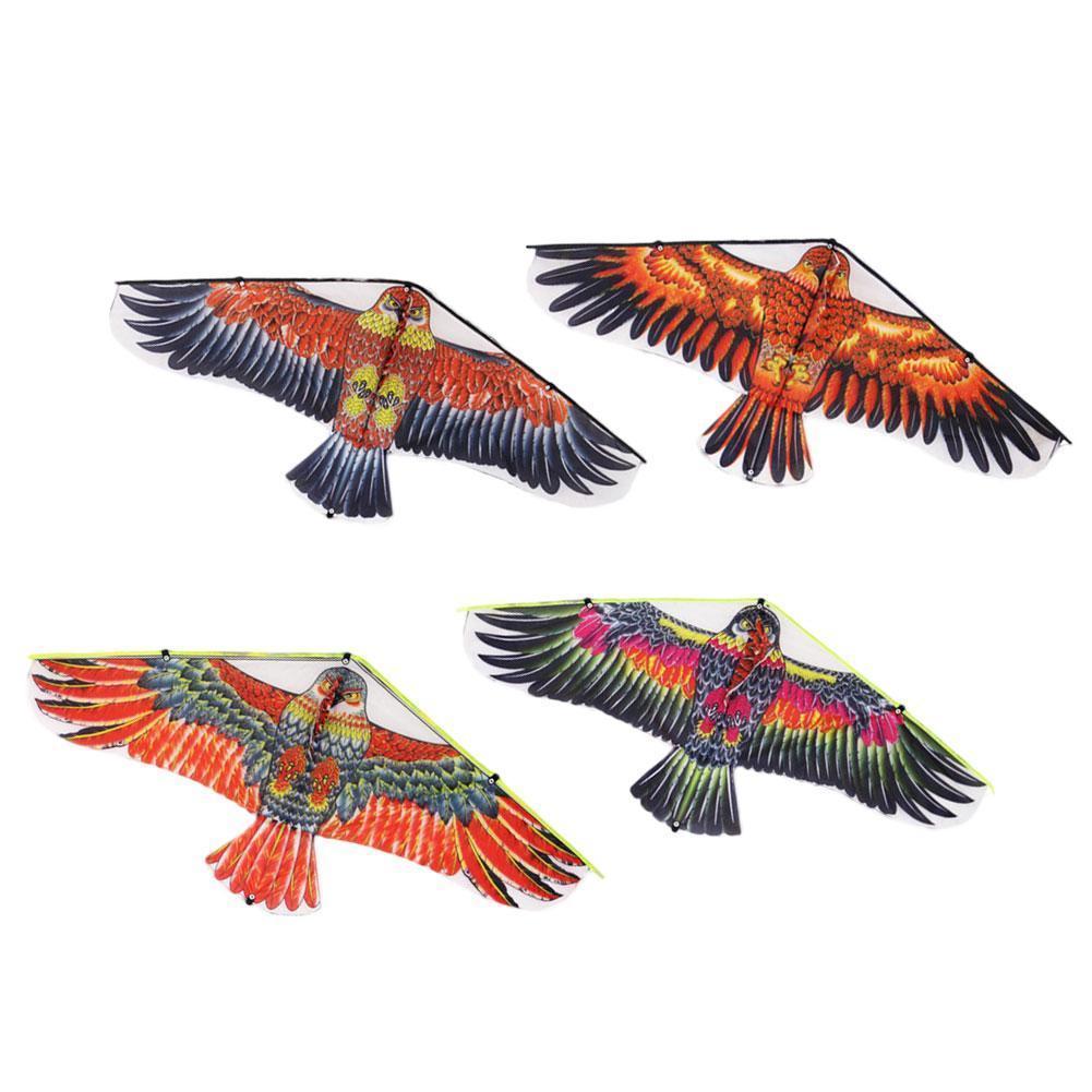 Фото - Новый плоский змей с орлом, большой воздушный змей для детей 50 м, тканевый змей, ветряные носки, садовый уличный Летающий змей с игрушками, иг... огненный змей