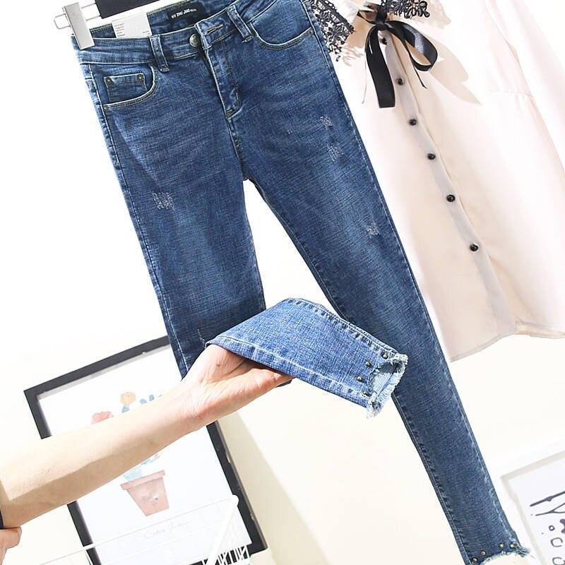 2020 Band Women`s Plus Size Jeans Harem For Women Loose Vintage Light Blue Women's Jeans Pants  Denim Pants