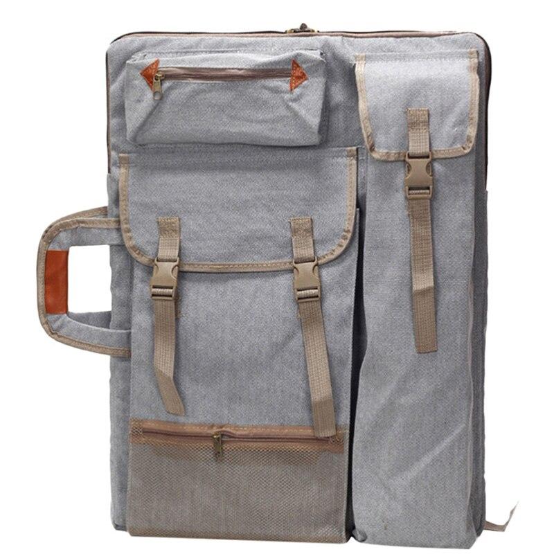 Art Portfolio Bag Case Backpack Drawing Board Shoulder Bag with Zipper Shoulder Straps for Artist Painter Students Artwork