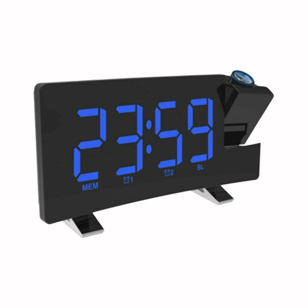 Reloj de Radio con banda doméstica Digital de 8 pulgadas proyector LED proyector proyección decoración temporizador casa reloj con luz de fondo Radio alarma Snooz G6M3