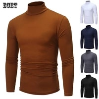 fashion mens spring and autumn new casual trend mens high neck long sleeved t shirt tops streetwear outdoor mens t shirts