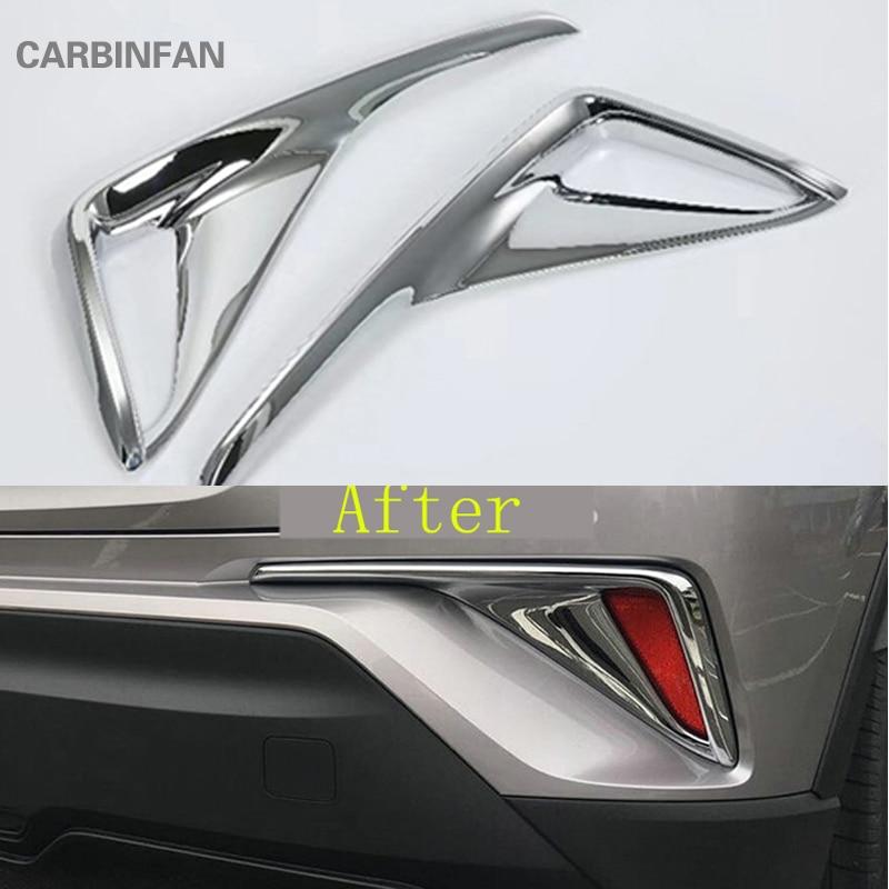Accesorios de estilo de coche LUZ ANTINIEBLA TRASERA Trim ABS Cromo 2 unids/set para Toyota C-HR CHR 2016 2017 luz trasera cubierta de Marco C337