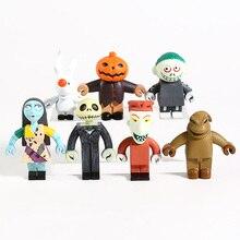 The Nightmare Before Christmas Jack Skellington Sally Lock Barrel Oogie Boogie Mini PVC Figures Toys 7pcs/set