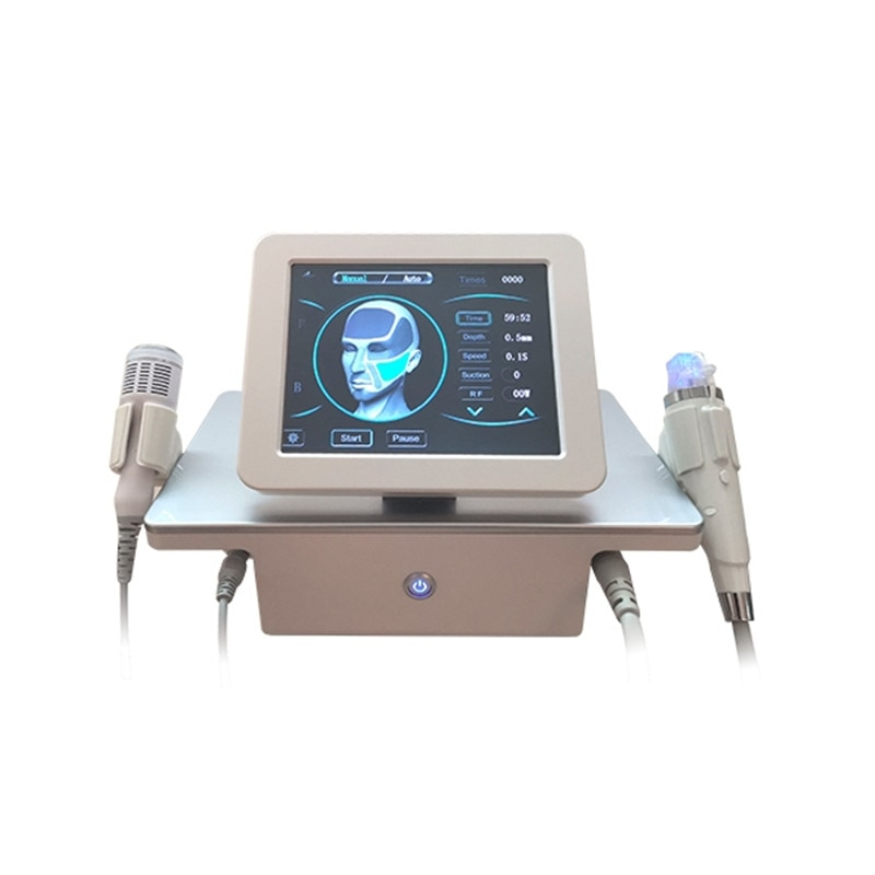 2 in 1 rf fractional micro-needle machine with cold hammer anti-acne shrink pores facial skin care t