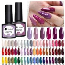 UR sucre 7.5ml violet rose Gel vernis à ongles couleurs mates Semi Permanent tremper hors UV LED Gel ongles vernis vernis à ongles
