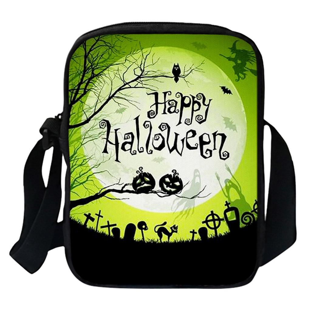 #5 bolsas para Halloween graciosas bolsas de hombro para mujeres, bolsas de mensajero de calabaza, bolso cruzado para mujeres, monederos para Halloween