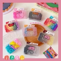 girls jelly color hair bands hair rope simple candy color rubber bands high elastic scrunchies tie girls hair accessories 2021