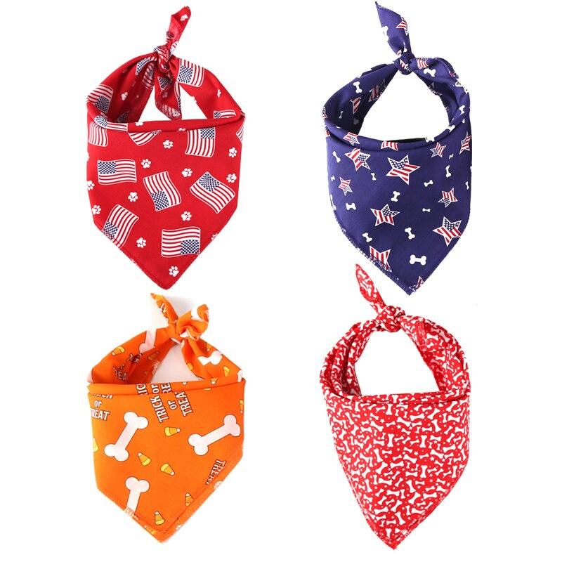 Haustier Hund Katze Bandana Nette Amerikanische Flagge Druck Kopftuch Für Kleine Große Hund Lätzchen Schal Welpen Fliege Hundesalon zubehör