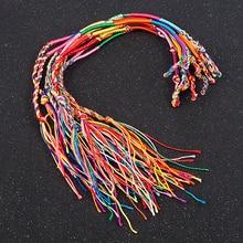10 Pcs /Set New Rainbow Color Mix Braid Friendship Bracelets for Women Jewelry Gift DIY Handmade Rope Bangles Random Color