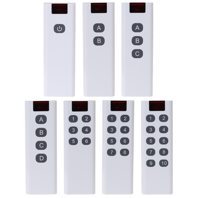 Código de aprendizaje inalámbrico Universal transmisor de control remoto Digital 3/4/6/8/10 botones de canales teclado AK-7010TX
