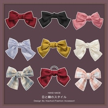 Zhou Yangqing Celebrity Inspired Black Big Bow Hairpin Female Hair Band Fairy Style Hair Accessories