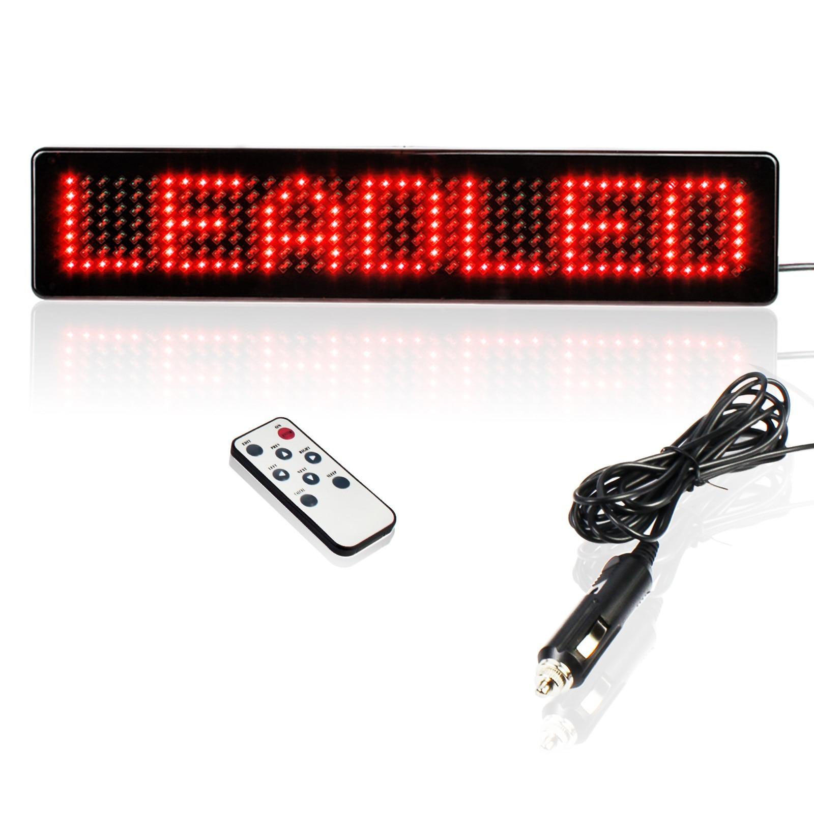 Светодиодные автомобильные знаки, 23 см, 12 В, с дистанционным управлением, программируемая прокрутка, сообщения, Светодиодная панель дисплея...