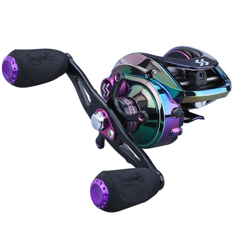 Reel 6.3:1/7.2:1 Gear Ratio with 2 Style Handle Magnetic Braking System 8KG Max Drag Fishing Reel enlarge