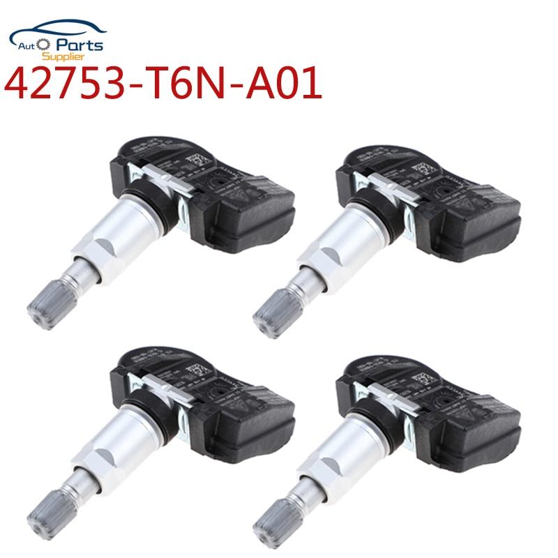 4 Uds para Honda para 2018, 2019, 2020 Acura TLX 433MHZ Sensor TPMS de Monitor de presión 42753-T6N-A01 42753-T6N-TBD