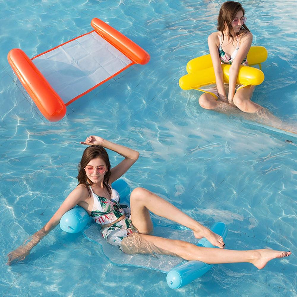Летние надувные плавающие подвесные Матрасы для бассейна, пляжные складные кресло для бассейна для плавания, гамак для водных видов спорта,...