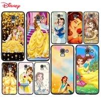 silicone cover disney belle princess for samsung galaxy j8 j7 duo j6 j5 prime j4 plus j3 j2 core 2018 2017 2016 phone case