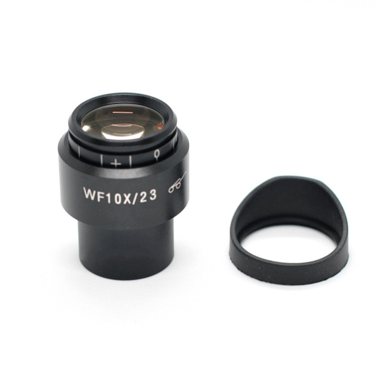 Microscope Accessories Wide-angle Eyepiece WF10X High Eyepoint Interface 30mm Field of View 23mm with Eyecup div 0 1mm microscope ocular micrometer slides calibration ruler microscope eyepiece reticle micrometer diameter 19mm 23mm 27mm