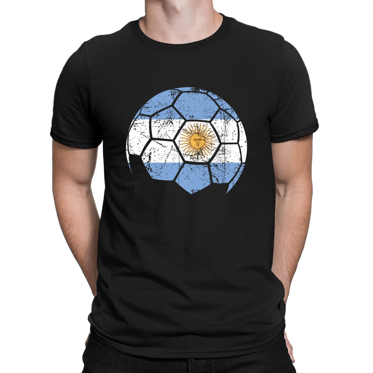 Argentina soccer fútbol camiseta verano inteligente de alta calidad de manga corta Camiseta para hombre diseño Pop camiseta superior