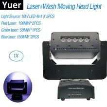 3IN1 غسل/ليزر/ضوء إحترافي 5X10W تتحرك رئيس ضوء 550MW DMX512 ضوء الليزر DJ/بار/حفلة/ضوء المرحلة ليزر العارض
