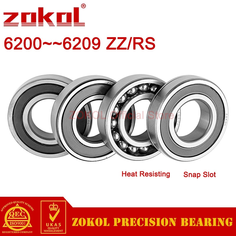 zokol-6200-6201-6202-6203-6204-6205-6206-6207-6208-6209-z-zz-rs-2rs-n-deep-groove-ball-bearing-snap-slot-heat-resisting-bearings