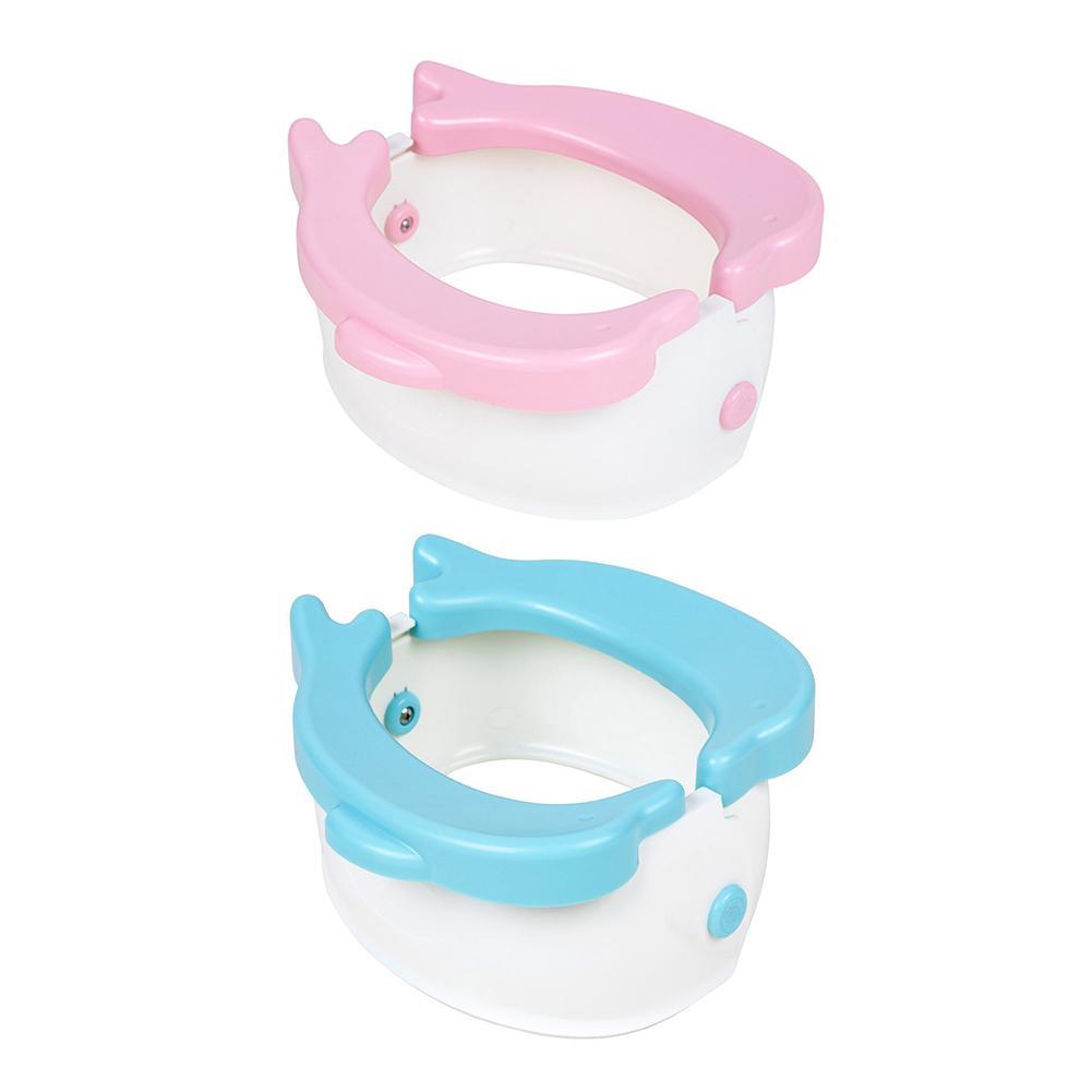 Macetas de plástico para cámara de niños, asiento de entrenamiento para el baño, orinal de viaje infantil con bolsa de orina, orinal plegable portátil con delfín