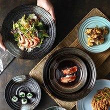 Plat Steak Sushi en céramique dart nordique   Plat occidental, Restaurant Simple hôtel Ramen Snack Plat de poisson à la vapeur, vaisselle de cuisine