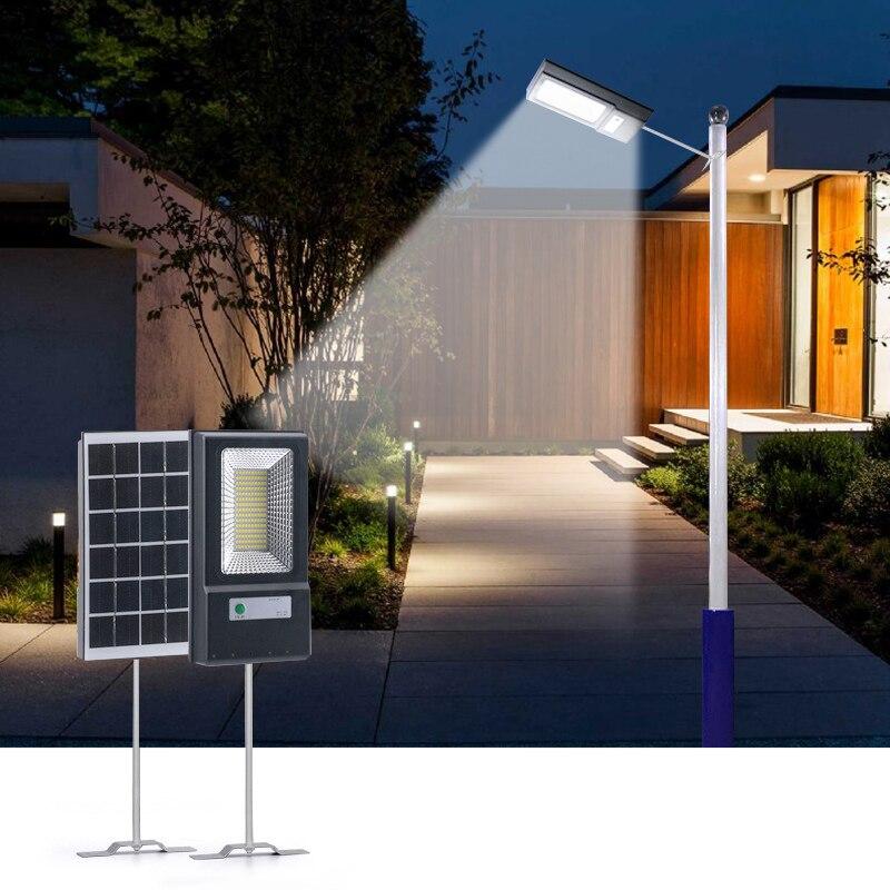 50w led solar luz de rua radar interruptor do sensor movimento led projector ip67 à prova dip67 água lâmpada parede luz solar alimentado lâmpadas led estrada
