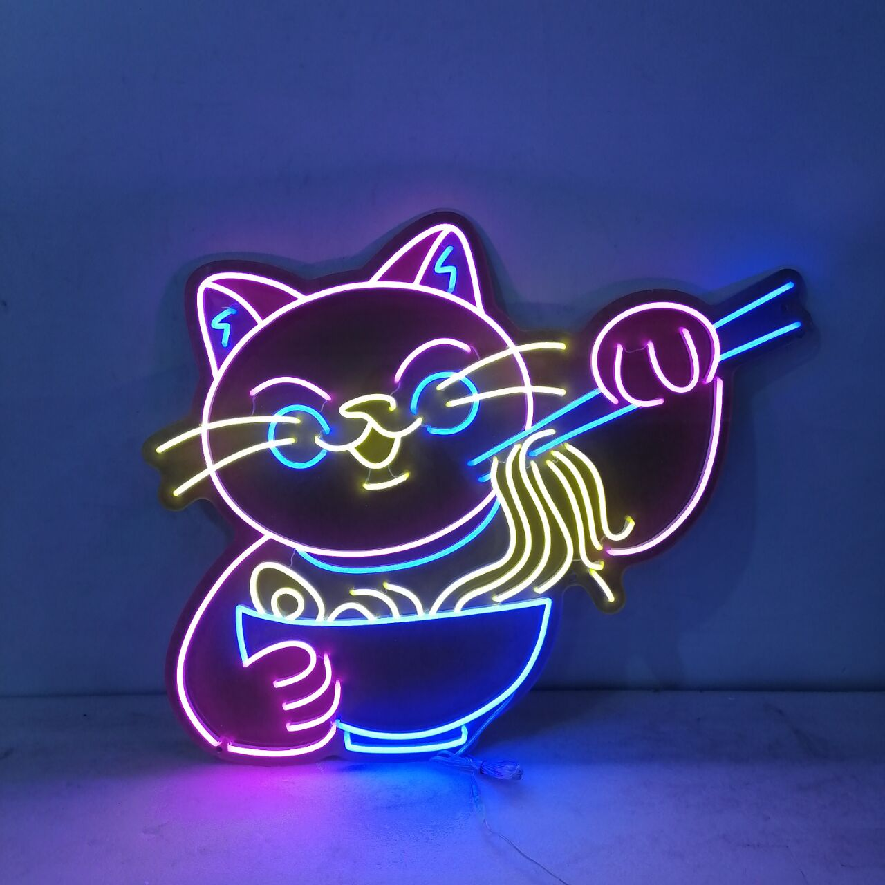 Neon Light Night Sign for Lucky Cat Hotel Display Neon Lights Room Decoration Glass Lamp Advertise Letrero Neon