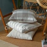 striped pillow cover white decor pillows shabby chic cushions modern minimalist cushion cover 45x45cm square pillow case
