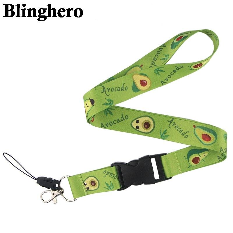 CA95 авокадо фруктовые ремешки для брелка ID карты пропуска мобильного телефона USB держатель значка повесить веревку Lariat шнур 1 шт