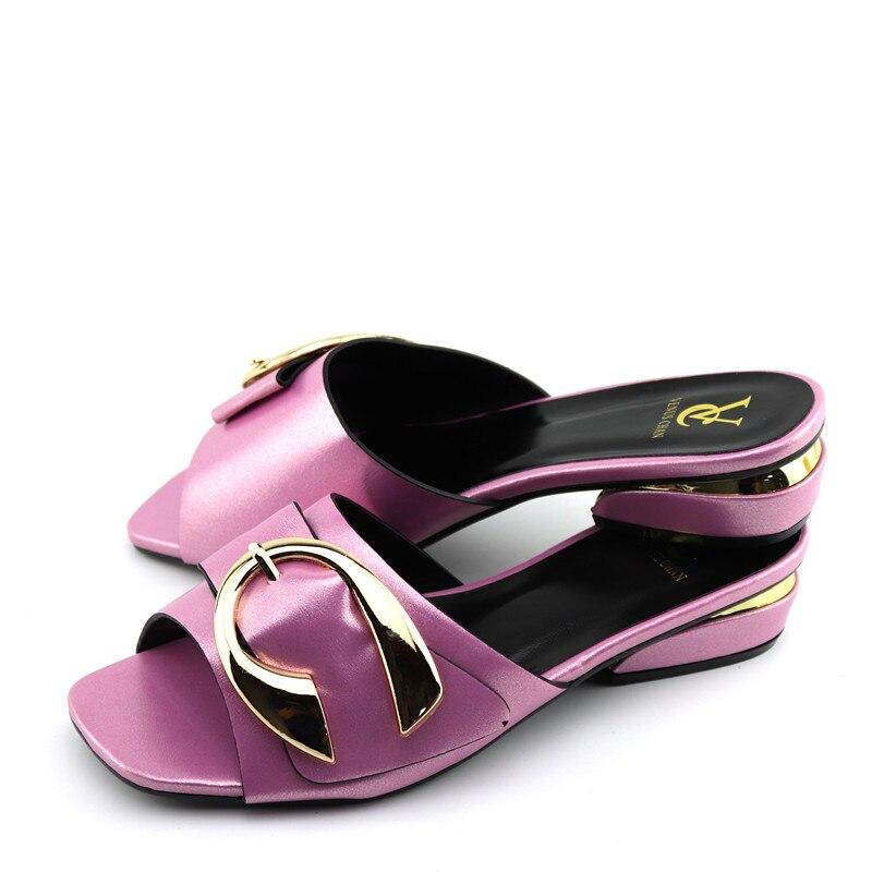 Zapatos rosas de gran tamaño 38 a 43 para mujer, zapatilla para fiesta, zapatilla de alta calidad, zapatos S-004