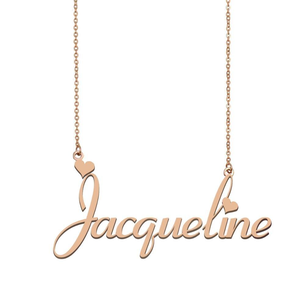 Collar con nombre de Jacqueline, collar con nombre personalizado para mujeres, chicas, mejores amigas, cumpleaños, boda, regalo del Día de la madre de Navidad