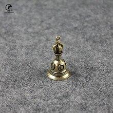 Laiton bonne porte-bonheur porte-clés pendentifs bibelots cuivre mascotte voiture porte-clés Vintage cuivre thé animal de compagnie décorations pour la maison accessoire