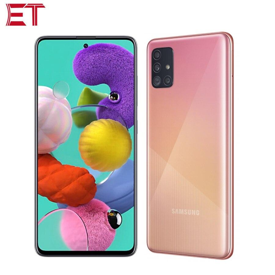 Version globale Samsung Galaxy A51 A515F/DSN téléphone portable 6 go RAM 128 go ROM Octa Core 6.5