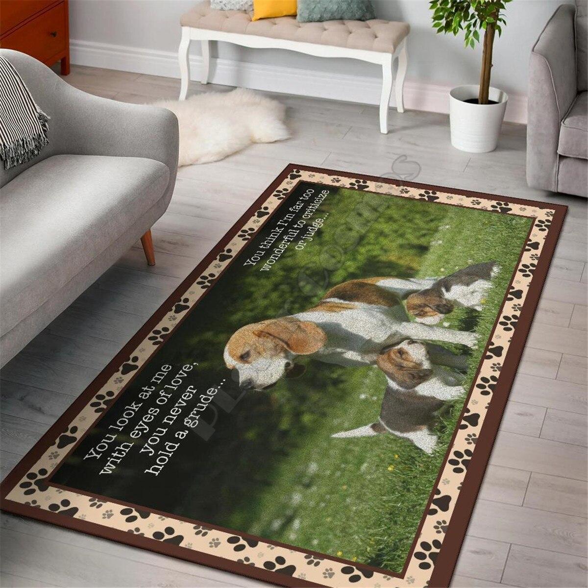 Beagle منطقة البساط مضحك الكلب جمع سجادة أرضية سجادة سجادة ضد الإنزلاق غرفة الطعام غرفة المعيشة لينة سجادة غرفة النوم