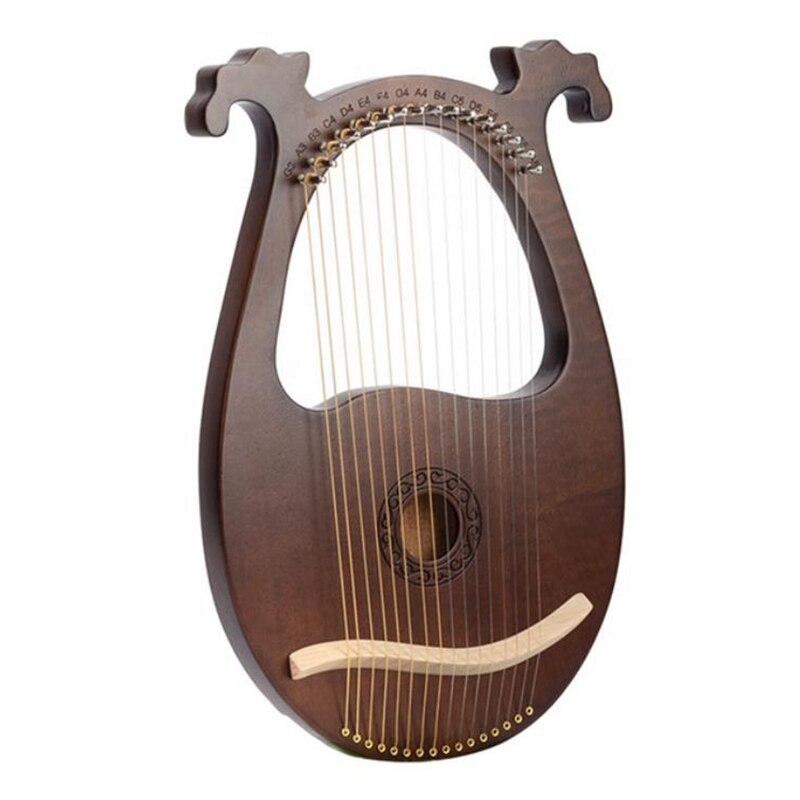 Lyre Harp,16 String Mahogany String Instrument With Tuning Wrench And Spare Strings For Music Lovers Beginners,Etc