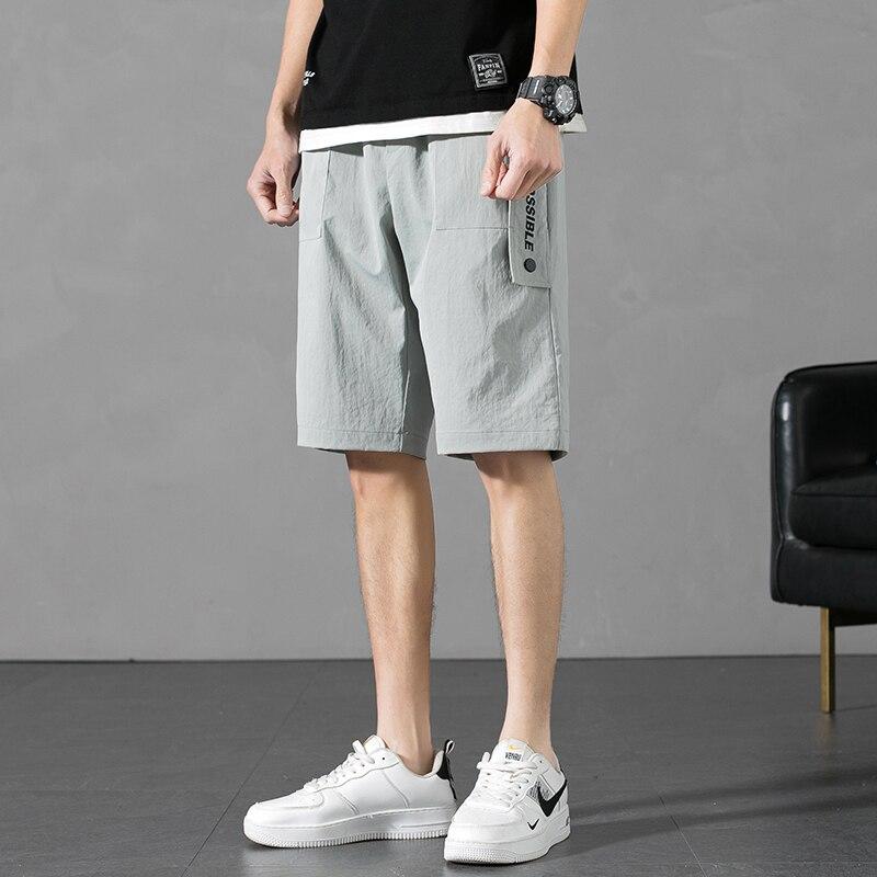 Короткие Популярные штаны с карманами, новый дизайн, пятиконечные штаны в гонконгском стиле Харадзюку, Молодежные студенческие крутые спор...