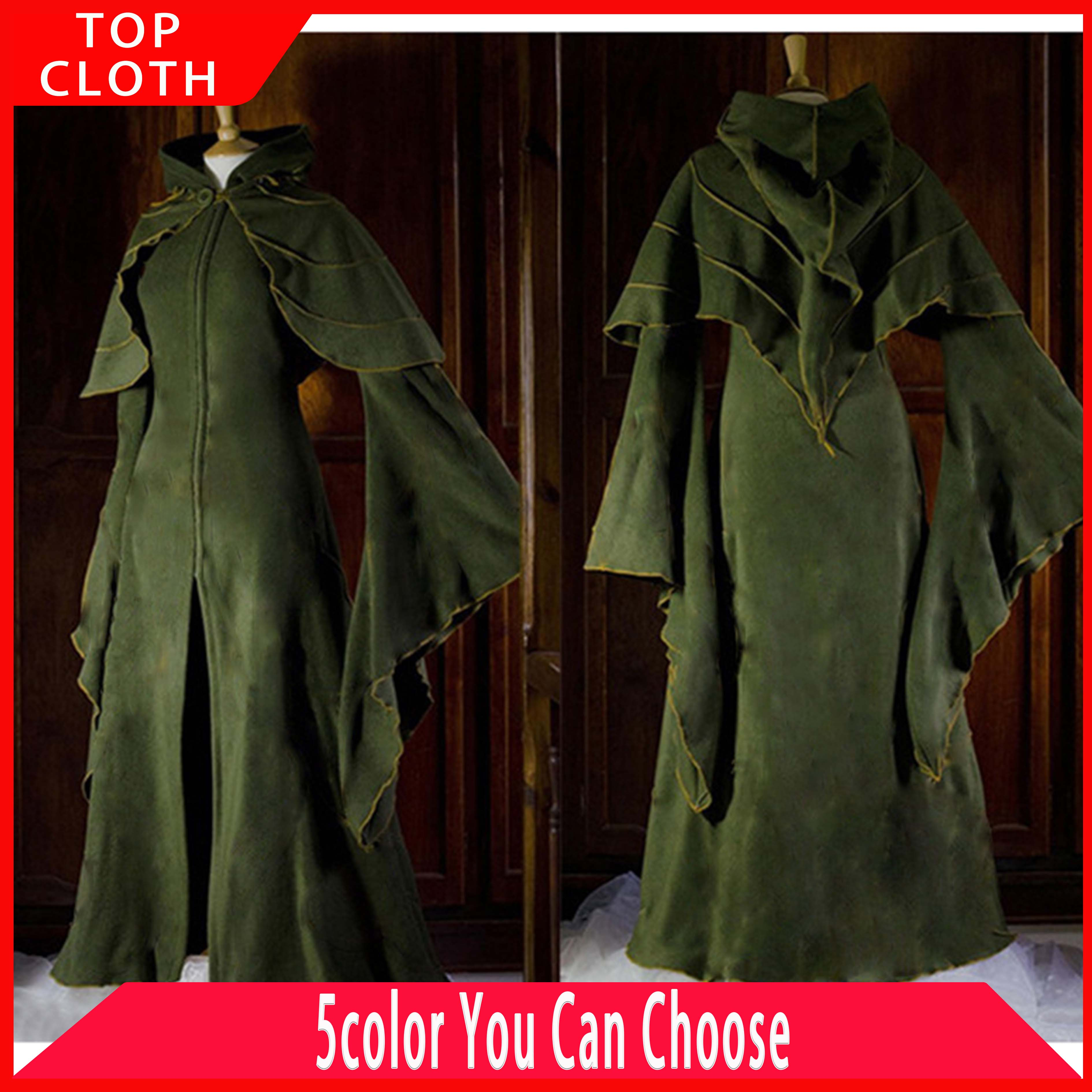 Renaissance femmes Elf Cosplay robe Vintage fée à capuche gothique victorien châle cape robe médiévale forêt scène spectacle robes