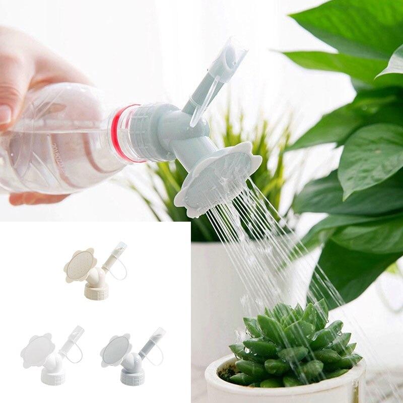 Rega portátil latas de aspersão bico sprinkler multifunções plástico waterers garrafa 2in1 jardim suprimentos spray de rega-cabeça