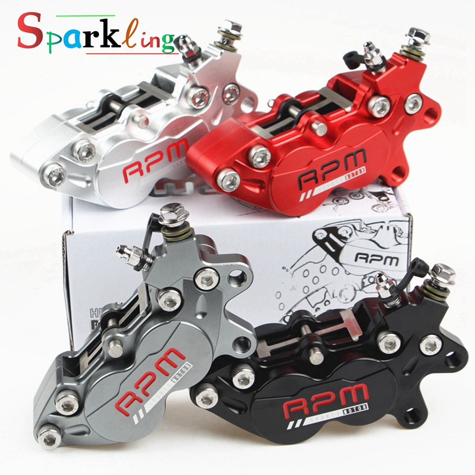 Universal 40mm Motorcycle Scooter Brake Caliper RPM 4 Pistons Motorbike Hydraulic Disc Pump for front rear brake system