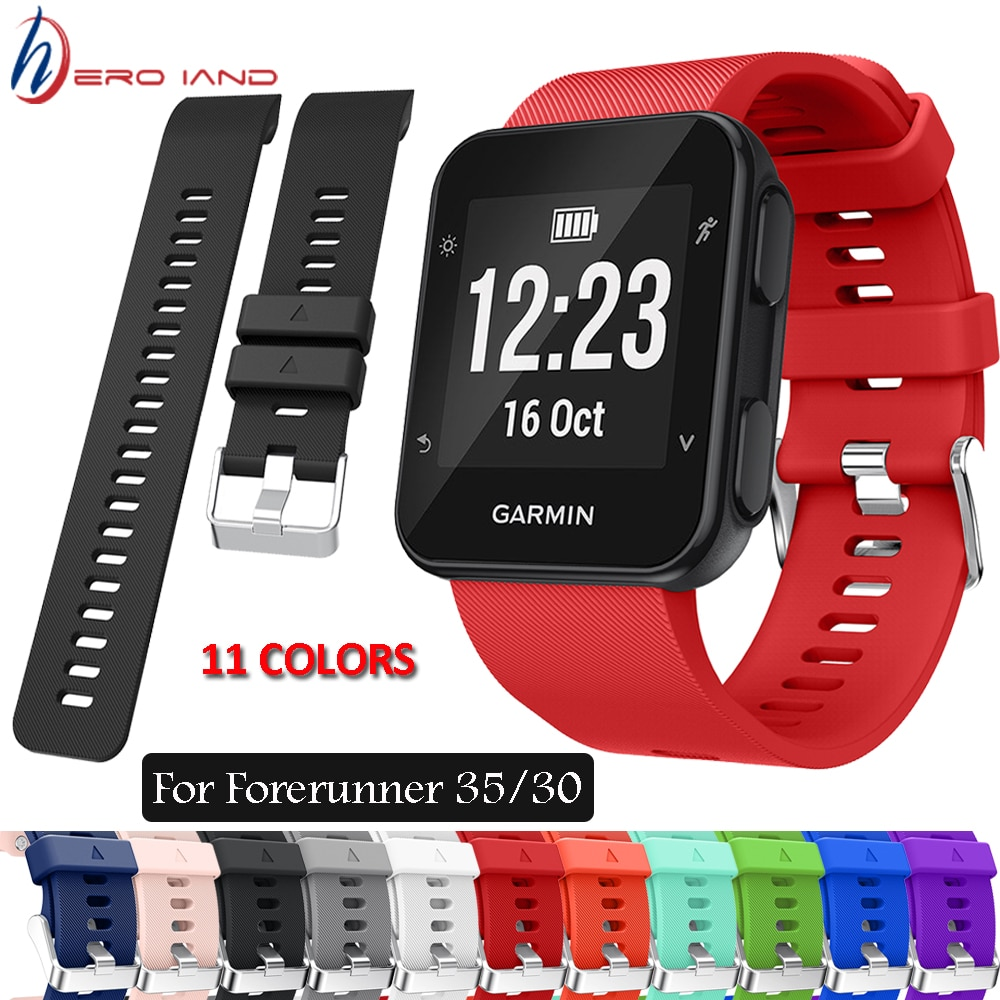 Strap For Garmin Forerunner 35 30 Smart Watch Replacement Wristband Watch band Wrist strap Silicone Soft Band Strap Bracelet New