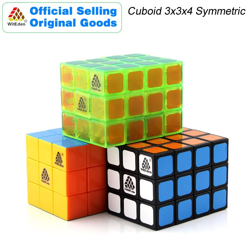 witeden mixup 3x3x4 plus magic cube 334 cubo magico professional neo speed cube puzzle antistress fidget toys for children WitEden 3x3x4 Cuboid Magic Cube 1C 334 Symmetric Cubo Professional Speed Neo Cube Puzzle Transparent Antistress Toys