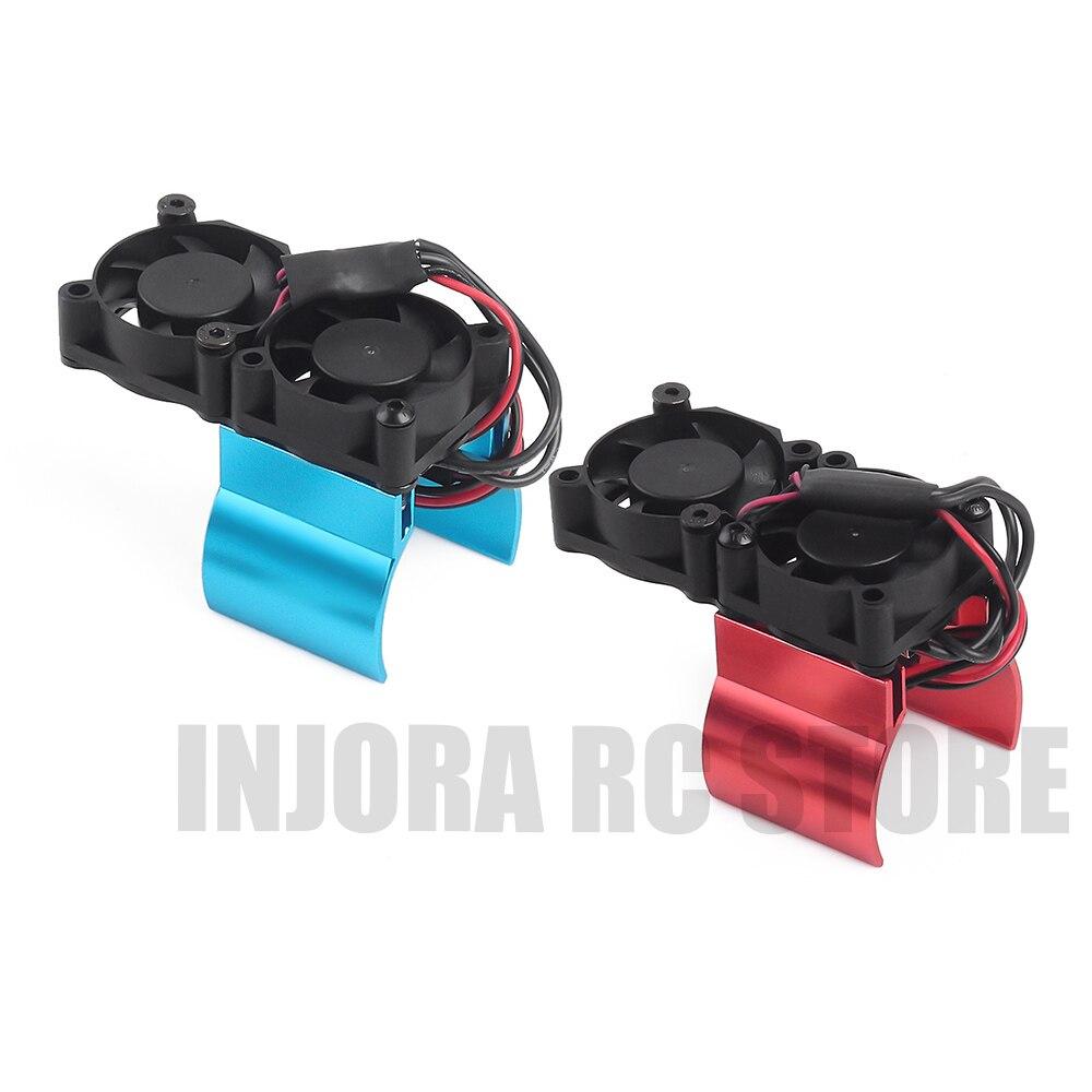 1PCS RC Auto Motor Kühlkörper mit Thermische Rezeptor Lüfter Elektrische Teile für 1:10 RC Crawler Axial SCX10 90046 Traxxas TRX4