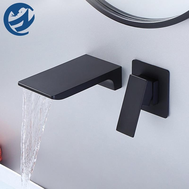 عالية الجودة الحائط شلال حوض صنبور صنبور حوض استحمام الساخن الباردة خلاط رافعة حوض صنبور مع صندوق التحكم