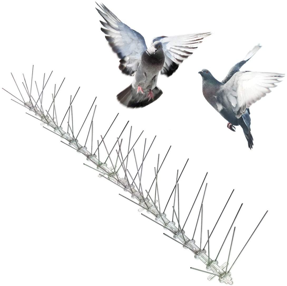 Funda repelente contra picos de ave de acero inoxidable para palomas, pájaros pequeños, gatos, valla Anti escalada para pared, aves, flechas, picos