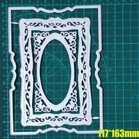 rectangle fretwork etched frame set dies nested multiple inner frame cutting dies craft cut die embossing new die easy to cut
